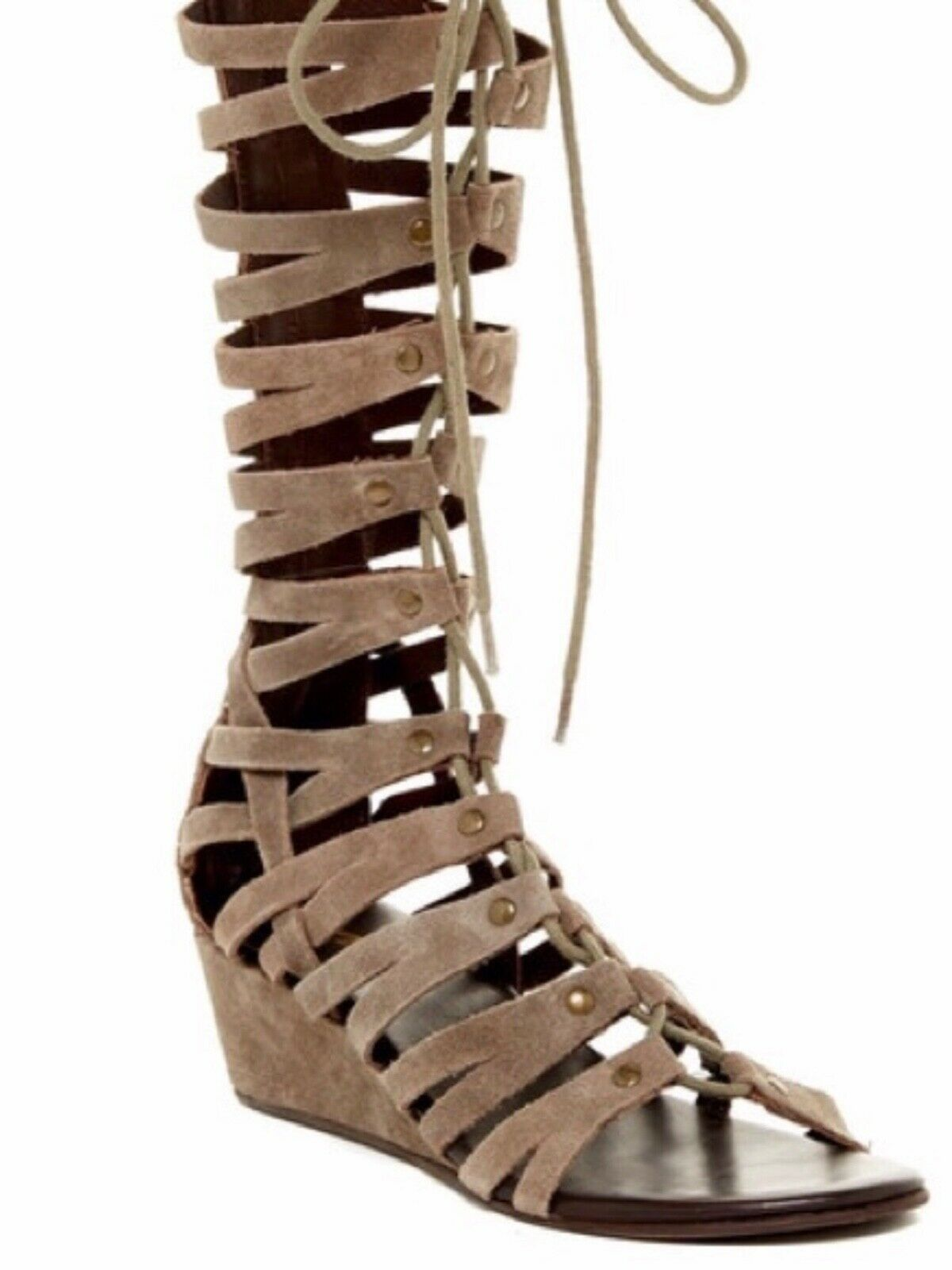 Rebels Women's Grey Suede Tall Gladiator Sandals 9M MSRP  160