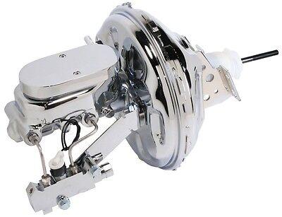 "Chevelle 11/"" Chrome Power Brake Booster Kit Firebird 1967-68-69 Camaro"