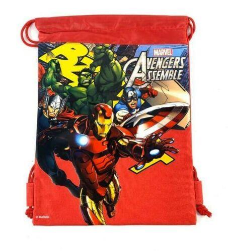 Details about  /Marvel Avengers Kid/'s Drawstring Backpack School Sport Gym Bag Red