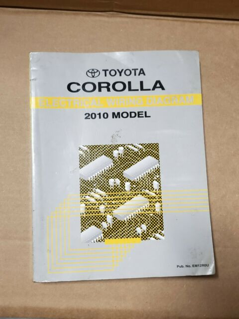 2010 Toyota Corolla Shop Service Electrical Wiring Diagram
