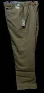 """MARKS & SPENCER Mens Reg Fit Tan Brown Wool Rich Trousers 42"""" Wst 33"""" I/L"""