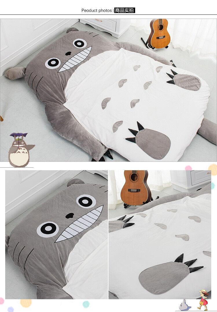 290160cm nuevo enorme cómodo Totoro Cama Bolsa De Dormir Pad