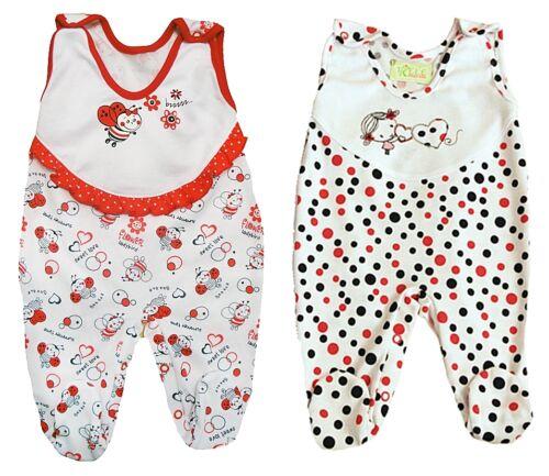 Strampler für Mädchen einzeln oder 2er Pack Babystrampler Baby Erstausstattung