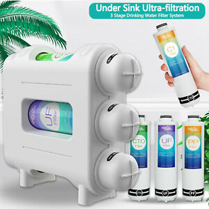 3 Stage Home Under Sink Drinking Water Filter System Purifier Ultra-filtrati