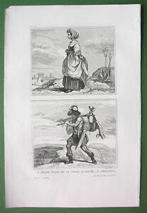 HOLY-LAND-Jewish-Woman-Hunter-Antique-Print-Engraving