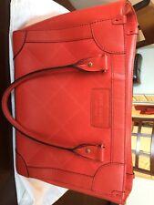 Kate Spade Classic Handbag Small Tote Red Leather Diamond Pattern
