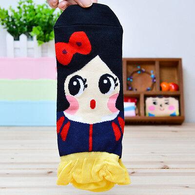 Korean Womens Retro Vintage Cute Cartoon Girls Cotton Ankle Low Cut Socks K2