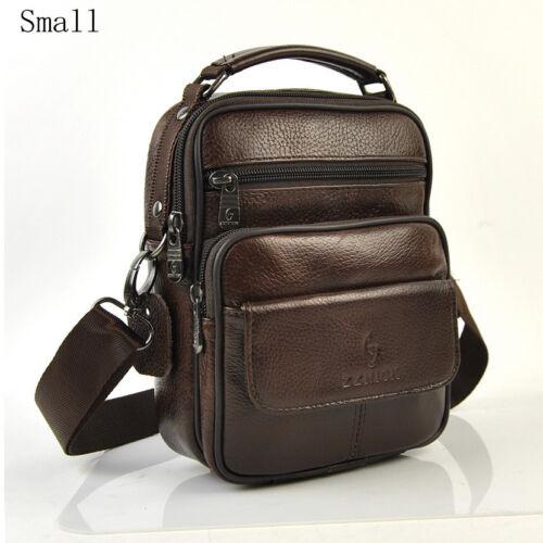 Men Genuine Leather Shoulder Bag Top Handle Messenger Crossbody Briefcase Bags