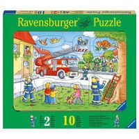 Ravensburger 10 T Puzzle 036592 Rahmenpuzzle Feuerwehr Rettet Katze Ab 2 Jahren
