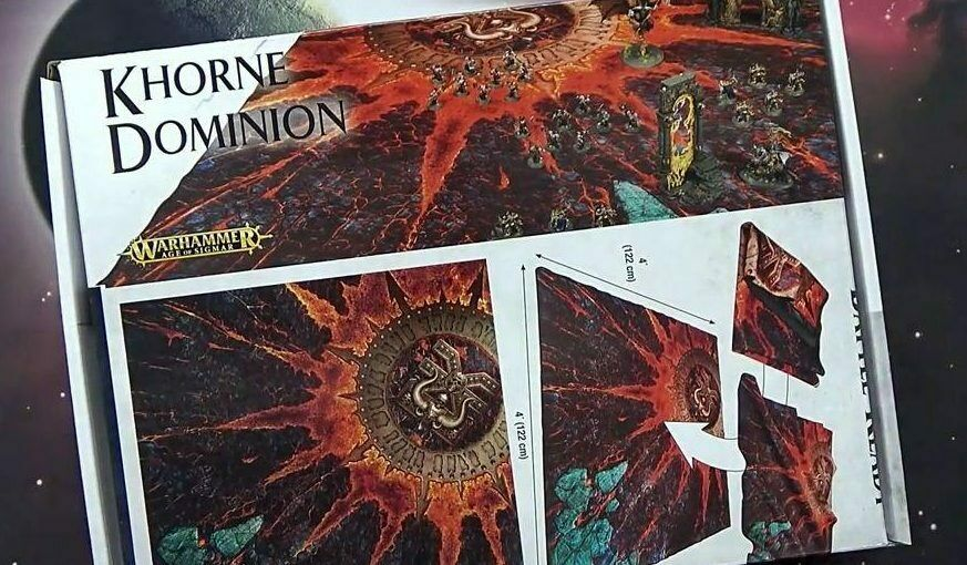 WARHAMMER Age of Sigmar  Khorne Dominion-Battle Mat