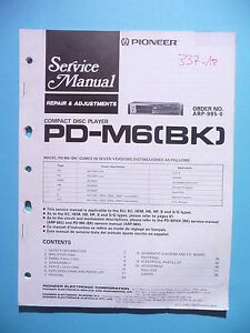 Service Manual Für Pioneer Pd-m6,original Tv, Video & Audio
