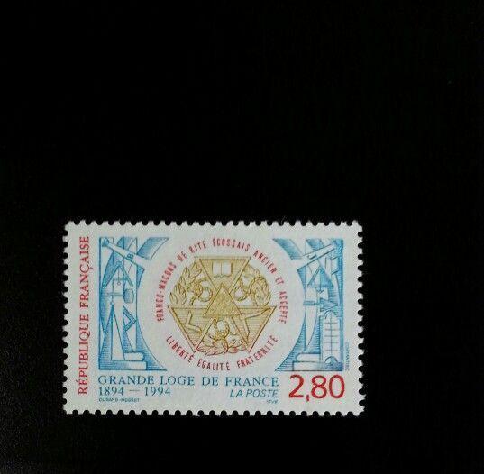 1994 Grand Lodge of France Scott 2446 Mint F/VF NH
