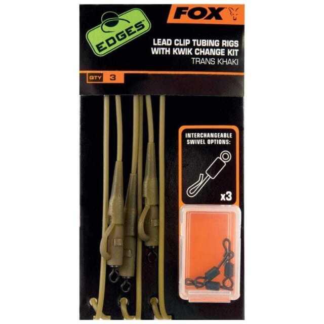 FOX Edges Lead Clip Leadcore Leader with Kwik Change Kit