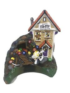 M-amp-M-Halloween-Haunted-Mine-Lighted-House-Department-56-2004-Not-Complete-READ