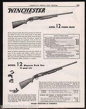 1954 WINCHESTER Model 12 Pigeon, Duck, Skeet Matted & Ventilated Rib Shotgun AD
