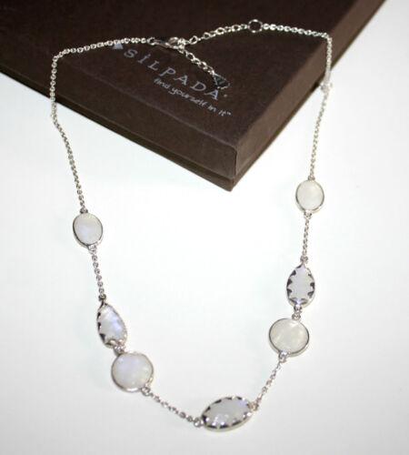"Silpada /""sur la lune/"" .925 Sterling Silver Moonstone Collier N2914"