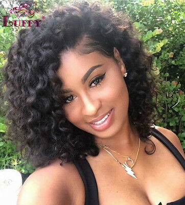 Short Curly Lace Front Human Hair Wigs Pre Plucked Full Lace Wigs With Baby Hair Ebay
