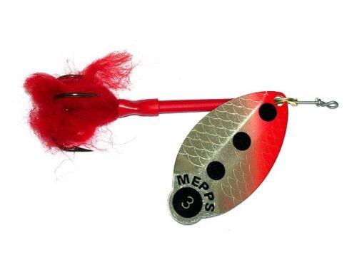 Spinner Spinning lure bait Köder FARBEN! sizes Mepps Lusox Fluo #2 ; 16g