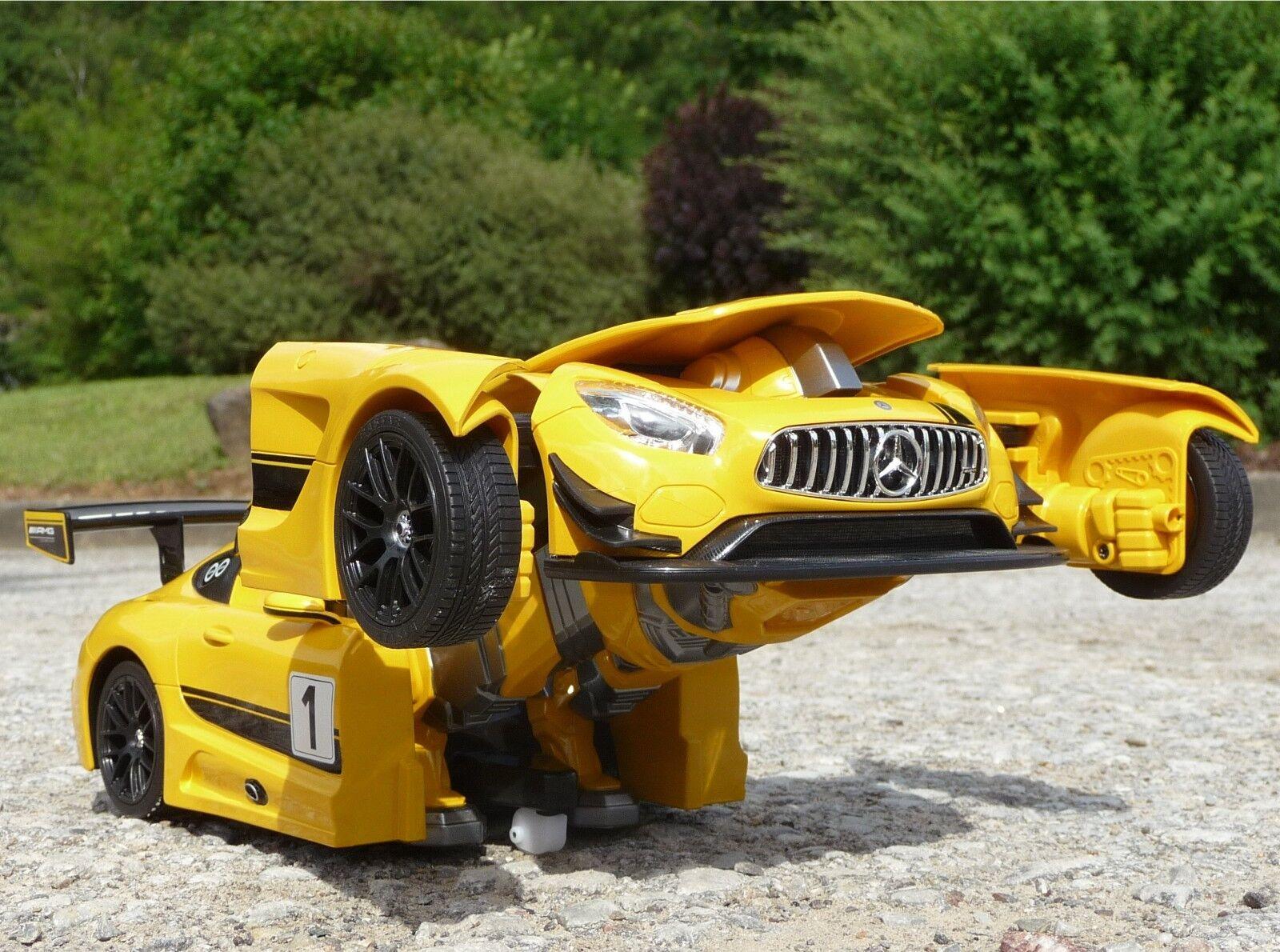 RC TRANSFORMER AUTO-ROBORTER AUTO-ROBORTER AUTO-ROBORTER Höhe 30cm mit Licht & Sound  2 4GHz         410029 fff3dc