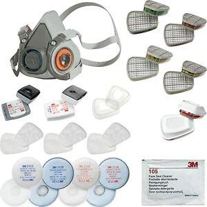 3m halbmaske reinigungstuch atemschutzmaske gasmaske lackiermaske staubmaske. Black Bedroom Furniture Sets. Home Design Ideas