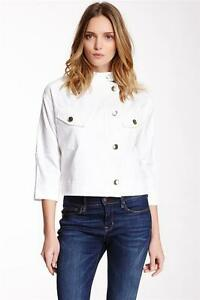 Nwt 4 Sleeve 12 238 Paperwhite Size Sleeve Crop 793459197314 Collezione 3 Jacket White tvqzX