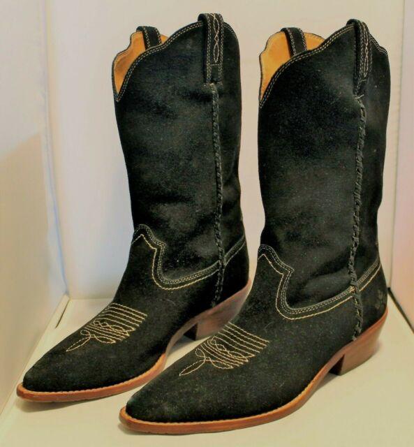 680f5a93b54 Patricia Nash Black Bergamo Mid Shaft Western Boots Woman's Size 10