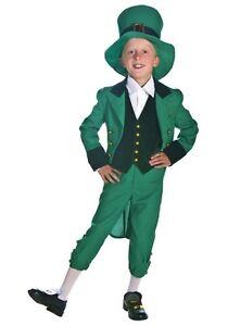 Child-Kids-Leprechaun-St-Patricks-Costume-Size-Small-Medium-S-M-with-defect