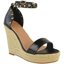 9fdb37c81c6 item 2 Womens Ladies Studded Wedge Sandal Rock Espadrille Platform Summer  Party Shoes -Womens Ladies Studded Wedge Sandal Rock Espadrille Platform  Summer ...