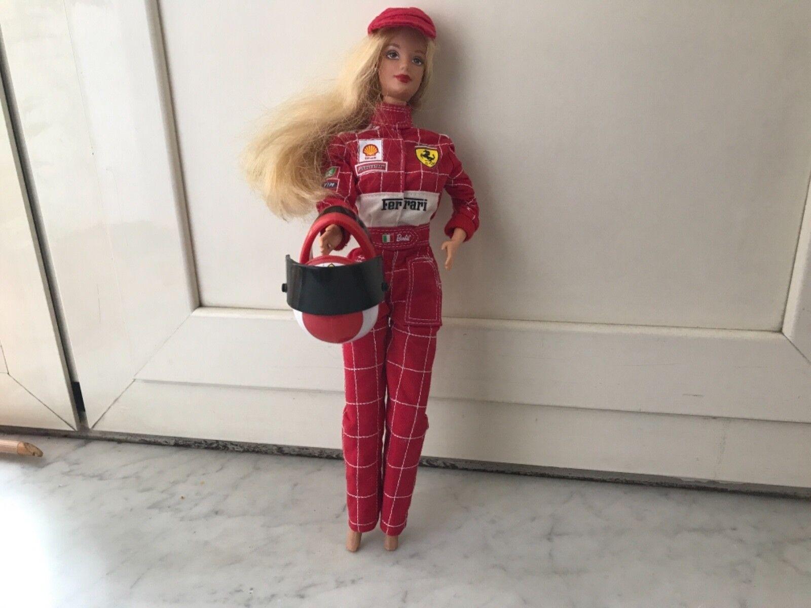 Barbie doll Scuderia Ferrari 2000 Mattel Mattel Mattel 25636 NRFB buonissima condizione 4df2e5