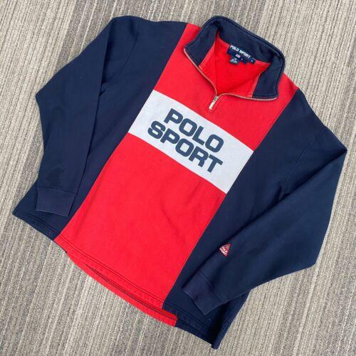 Vintage Polo Sport Half Zip Spellout Pullover Siz… - image 1