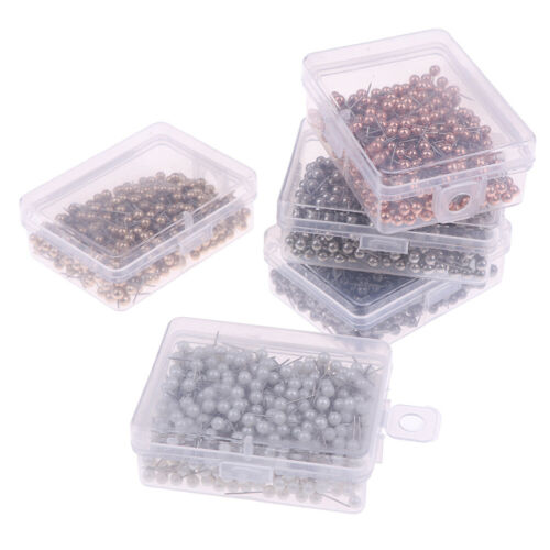 400pcs Round Plastic Head Steel Push Pins Map Thumb Tacks Pin Office Sch XE