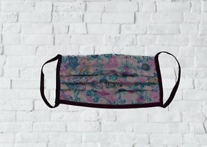 Zwillingsherz Mundschutz Maske bunte Blumen aus Baumwolle waschbar Kurt Kölln