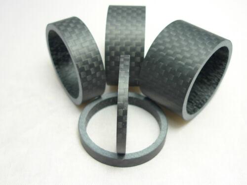 Single Or Full Set Of Matt Carbon Fiber Head Spacers