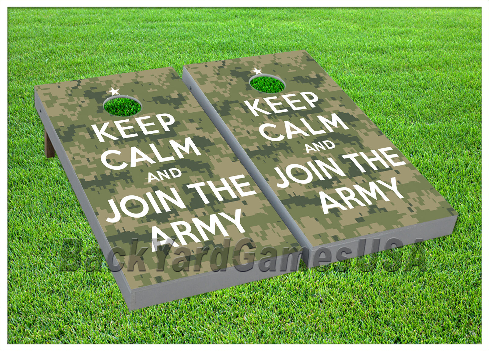 CORNHOLE BEANBAG TOSS GAME w Bags Game Boards Army Troops  Keep Calm Set 974  lowest whole network