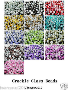 100pcs-Smooth-Crackled-Glass-Round-Spacer-Loose-Beads-8mm-10mm-Jewelry-Cafts