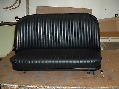 HOT ROD, RAT ROD31,32, LEATHER BOMBER BENCH SEAT WITH TRACKS