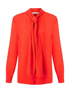 Coral Finery New Brand 12 Red Neck U Blouse Opal k Tie With Tags rIqxwOgI