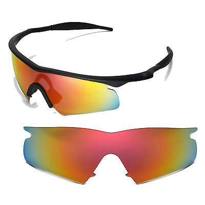 New Walleva Polarized Fire Red Replacement Lenses For