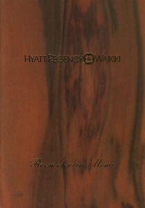 Vintage HYATT REGENCY WAIKIKI Room Service Restaurant Menu Hawaii