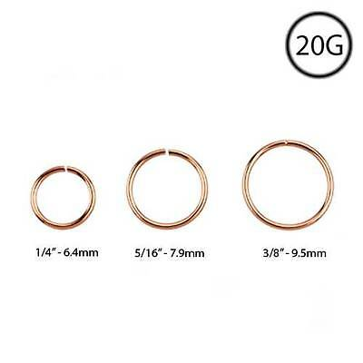 Rose Gold Plated Sterling Silver Nose Ring Continuous Seamless
