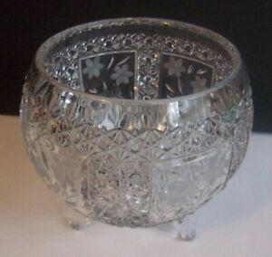 Vintage Lead Crystal Bowl Vase With