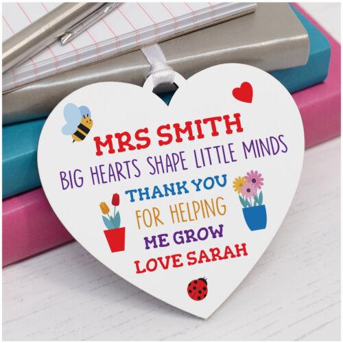 Personalised Teacher cœur plaque cadeaux-MERCI cadeaux pour aide enseignant