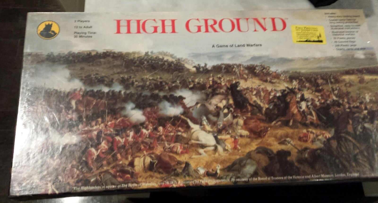 High Ground Board Game Game Game of Land Warfare1990 Crown Tactics.  Shrink Wrapped. 95be3b