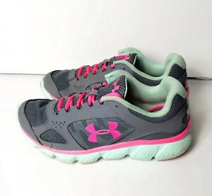 Under Armour 5 Gray Hot Pink Sneakers