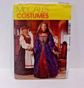 McCalls-Sewing-Pattern-2243-Size-28W-50-Renaissance-Plus-Size-Dress-Costume-K