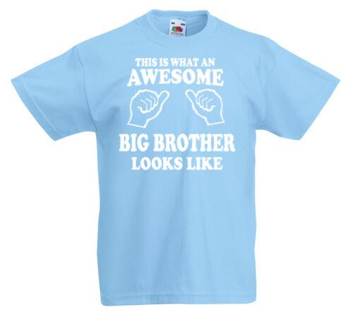 Toll Big Brother T-Shirt 3-13yrs Geschenk Jungen Bruder Geburtstag Lustiges