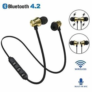 Wireless Bluetooth Magnetic Sport Earphones Earbuds Headset Handsfree Headphones