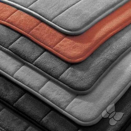 Orange Anti-Skid Memory Foam Bath Mat by Intima Hogar
