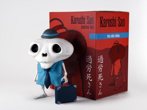KAROSHI SAN BLUE COLLAR EDITION DESIGNER VINYL FIGURE BY ANDREW BELL