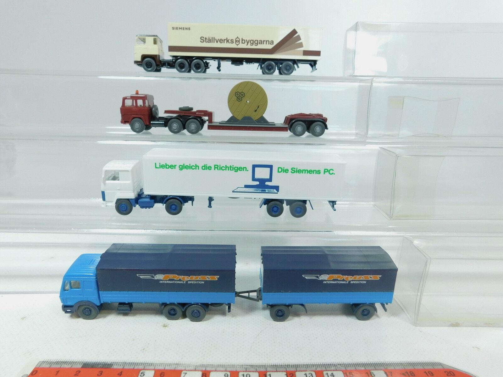 Az468-0, 5  4x Wiking h0 (1 87) camion  Scania Siemens + Ford + MAGIRUS VDK + MB Kanapa